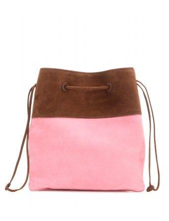 58bf6d85067f prada miu miu outlet - Miu Miu - Small suede bucket bag - The small tote