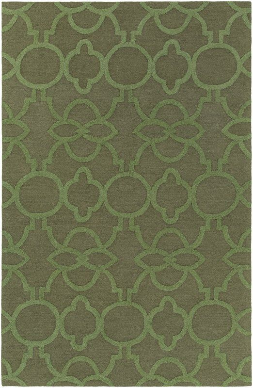 Sandi Hand Tufted Olive Green Rug Rugs Green Rug Transitional Area Rugs