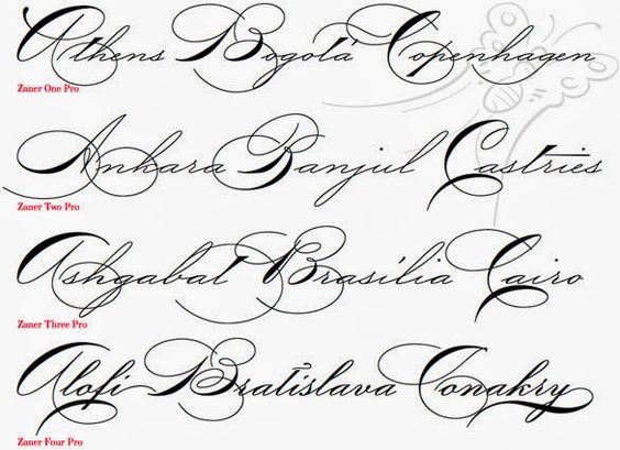 fancy cursive fonts alphabet for tattoos - Google Search ...