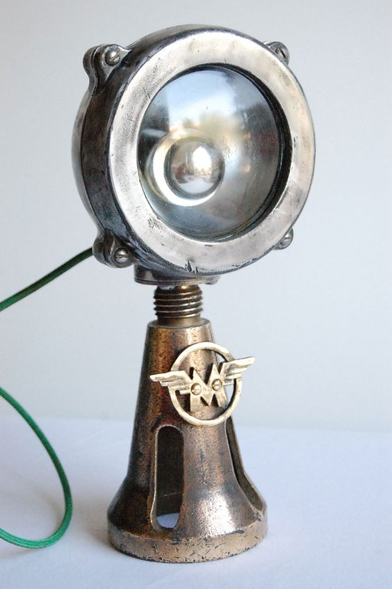 Industrial Light Parts : Matchless handcrafted vintage industrial desk lamp