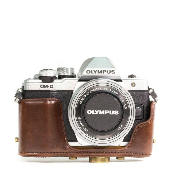 MegaGear Bolsa de Funda Protectora Para Olympus OM-D E-M10 con 14-42mm (Brown Oscuro): Amazon.es: Electrónica