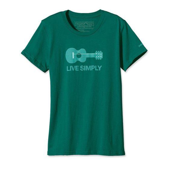 Patagonia Women's Live Simply Guitar Organic Cotton T-Shirt