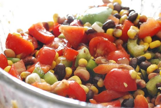 cowboy caviar - marinated fresh + canned summer vegetables  #recipe #food #vegetables