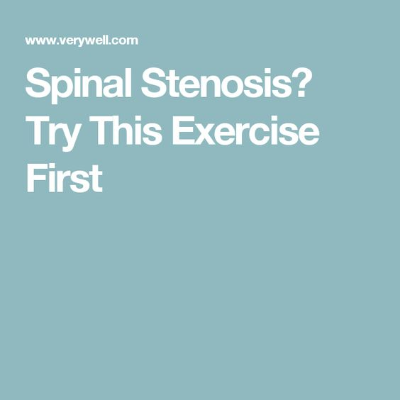 Spinal Stenosis? Try This Exercise First