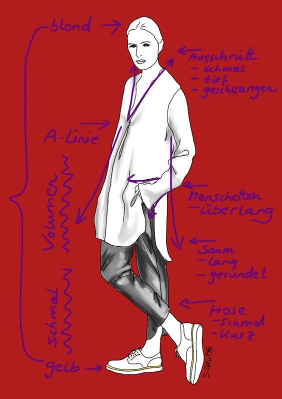 Proportionen, Linienführung, Akzente und Farbverteilung machen das #Outfit für viele #Figurtypen attraktiv. #Modeflüsterin