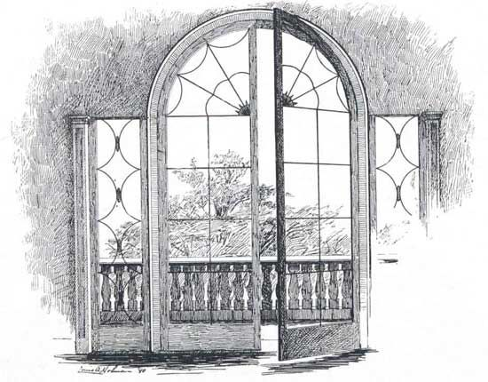 Drawings of windows and doors french window also for Window design sketch