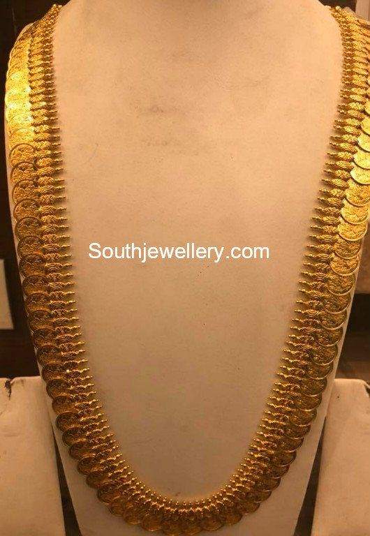 Plain Gold Lakshmi Kasulaperu Gold Jewellery Design Necklaces Gold Necklace Indian Bridal Jewelry Gold Jewelry Fashion