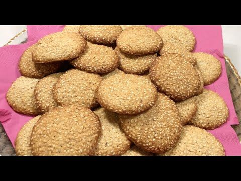 بأسهل الطرق وبمكونات بسيطة رح نعمل بسكوت السمسم Sesame Biscuit بسكوت Youtube Dog Food Recipes Food Animals Food