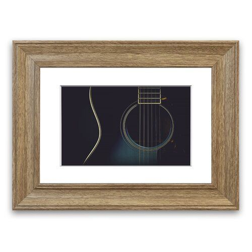 East Urban Home Framed Photographic Print Gibson Acoustic Guitar