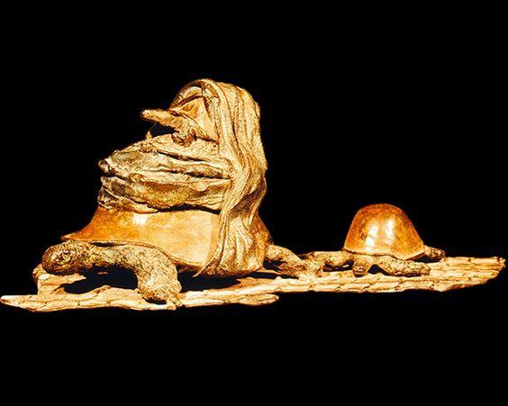 Les migrantes Pièce unique. Bronze. 1995 Rachid Khimoune