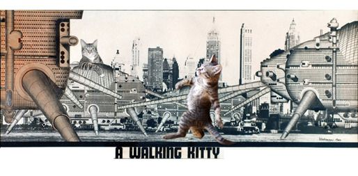 Archigram's Walking Kitty: Lolcats Designdaily, Architectural Lolcats, Blogs Archinect, Lolcats Blogs, Archigram S Walking, Walking Kitty, Graphic Inspiration