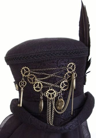 Steampunk Hat #Steampunk Jewelry