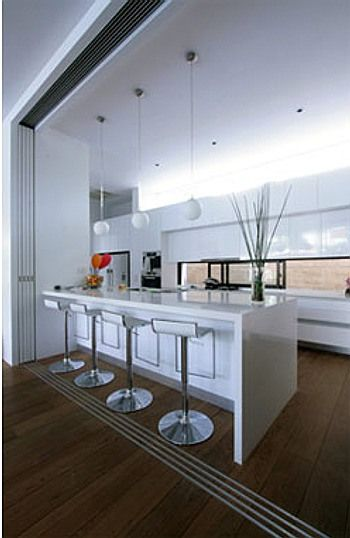 Decoraci n de cocinas modernas blancas cocinas pinterest - Decoracion cocinas blancas ...