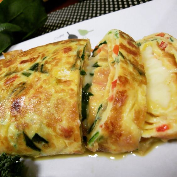 spinach with cheese eggrolls
