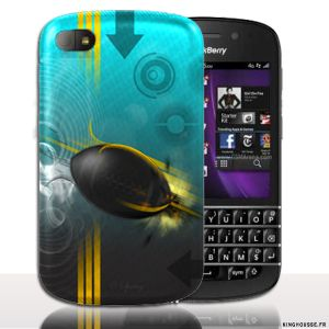 Coque BlackBerry Q10 | Design Rugby | Coque de protection arriere. #Q10 #Rugby