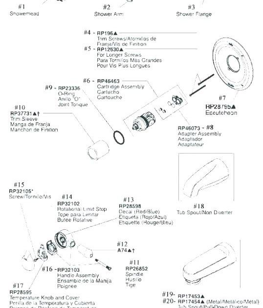 Delta Single Handle Shower Faucet Parts