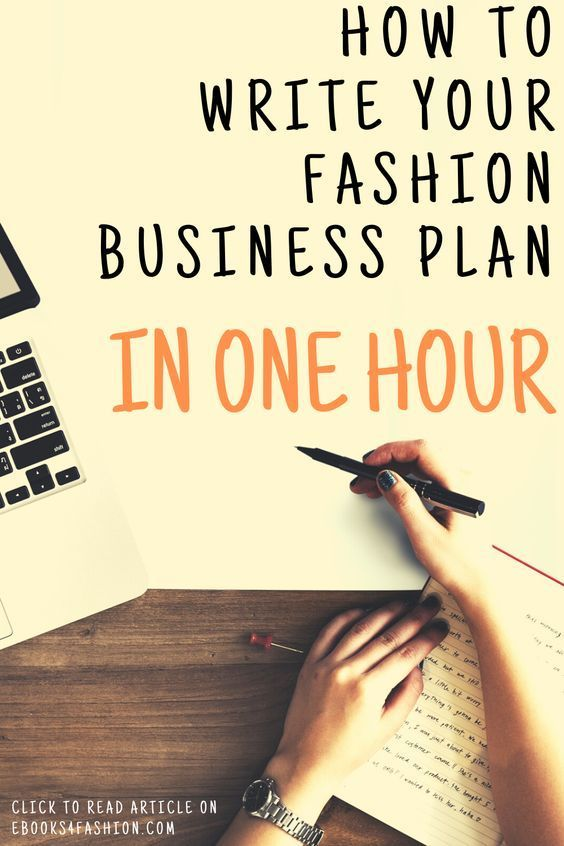 How To Write Your Fashion Business Plan In One Hour Learn More On Ebooks4fashion Com Fashion Business Plan Marketing Planning Startup Planner How To Con Immagini