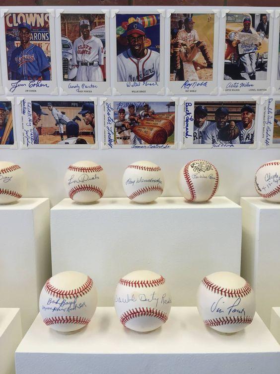 Signed Baseball Display   Color Line: The History of the Negro Baseball League, 2016