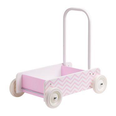 Lauflernwagen 'Barnkammaren' Zickzack rosa von Kids Concept kaufen