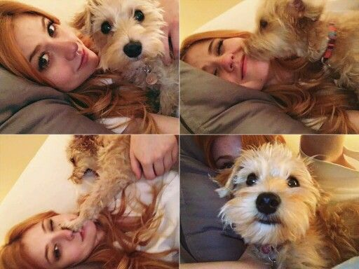 Kat and her puppy Sophie | Shadowhunters