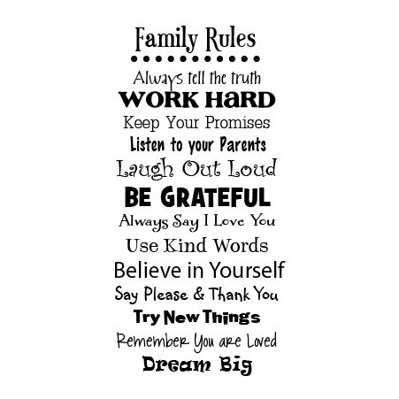 Vinyls Family Rules And Say Please On Pinterest