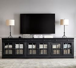 Aubrey 6 Piece Entertainment Center Pottery Barn Tv Stand With Glass Doors Large Tv Stands Home