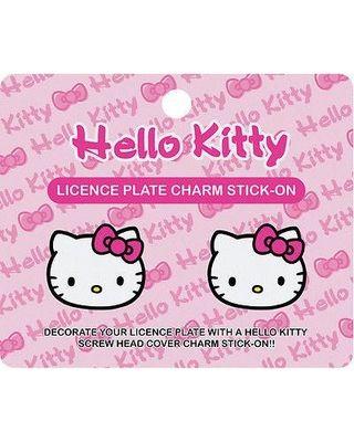 Hello Kitty License Plate Charm Stick-on Dimenssion: H 4 x L 1/2 x W 4-3/4