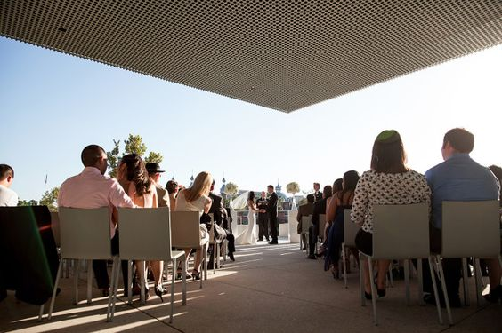 Wedding venue: Cermony at Tampa Museum of Art