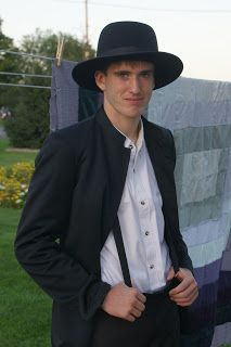 I'm turning Amish (not really though); this young man is good looking!: