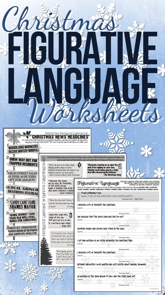 Christmas Figurative Language Worksheets | Student ...