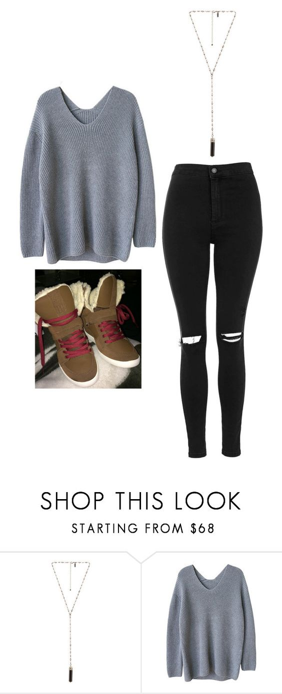 """""""Outfit Idea by Polyvore Remix"""" by polyvore-remix ❤ liked on Polyvore featuring Natalie B and Topshop"""