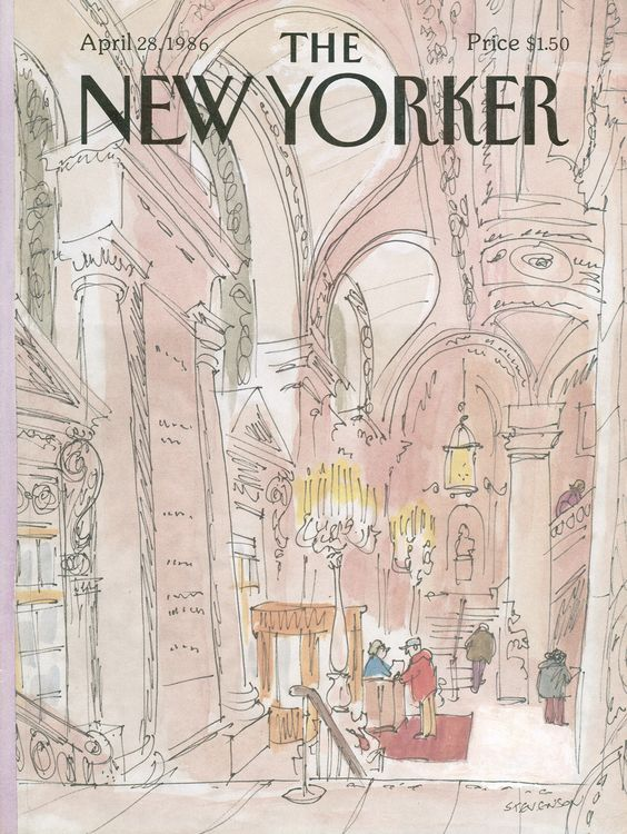 The New Yorker - Monday, April 28, 1986 - Issue # 3193 - Vol. 62 - N° 10 - Cover by : James Stevenson