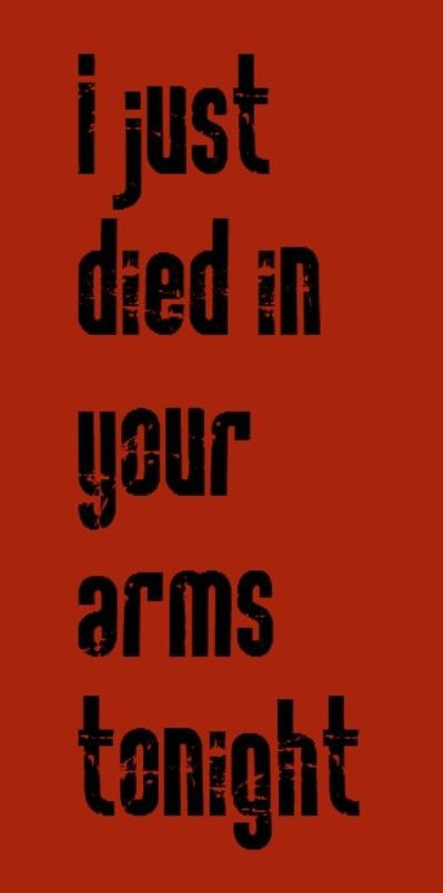bastille just died in your arms lyrics