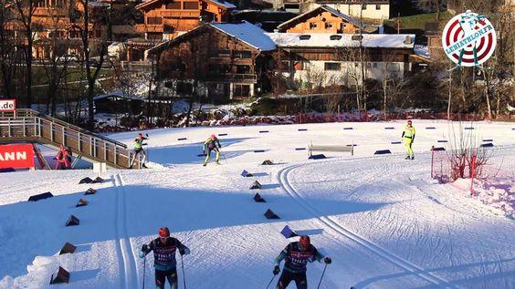 Entrainement officiel dames lors de la Coupe du Monde de biathlon du Grand Bornand, le 10/12/2013