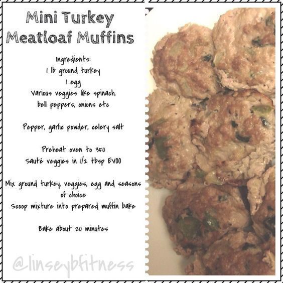 Mini turkey meatloaf muffins, food prep, clean eating, ground turkey recipes, 21 day fix approved