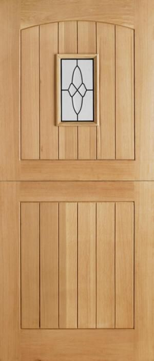 """Oak Copenhagen External Glazed Door. Available in sizes 78 x 30"""", 78 x 33"""" and 80 x 32"""". 44mm thickness. Glazing is Frosted Double Glazed."""