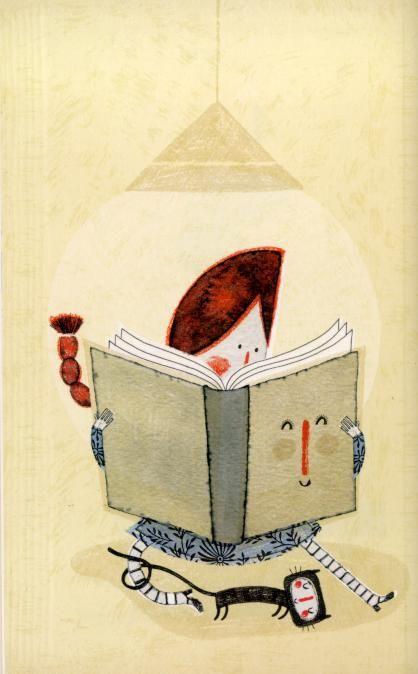 """Ilustración interior de Paloma Valdivia para """"Los cuentos del libro tonto"""" (Faktoría K.)."""