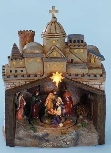"9"""" Mus Led Rotating Nativity"