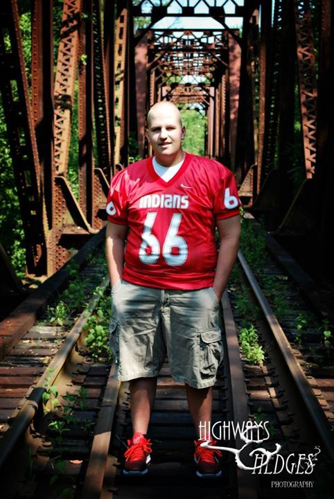 Zach's senior picture in his #66 jersey. — in Carlisle, OH.
