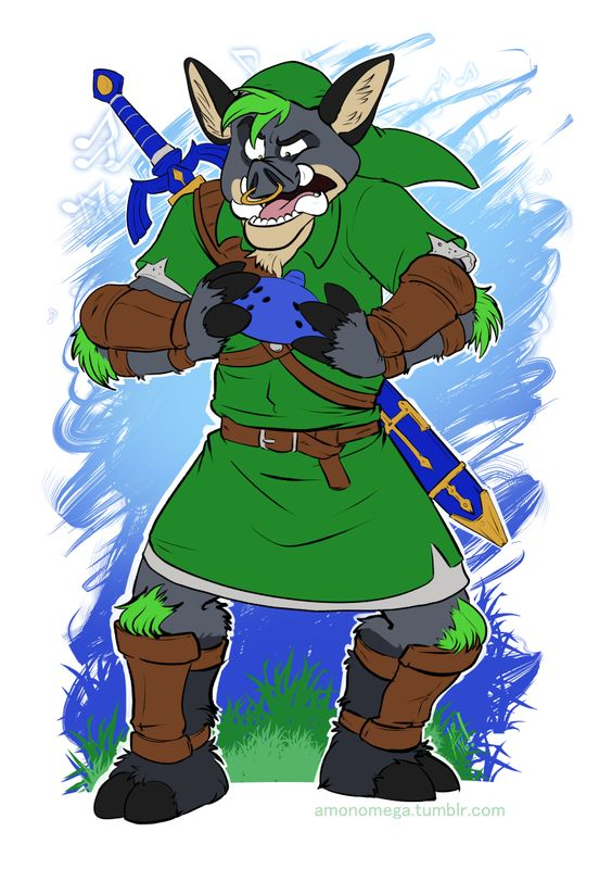 Boar-carina of Time - by AmonOmega But... how are you supposed to play with hooves????  Flat colour commission for Forrest The Boar!  #boar   #link   #cosplay   #zelda   #ocarina   #oot   #hyrule