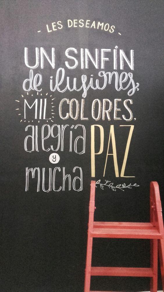#lettering #handmade #handmadefont #buenosdeseos #navidad #pizarra #pizarron