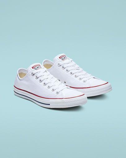 Gran engaño factor riñones  Chuck Taylor All Star Optical White Low Top Shoe | White converse shoes, Converse  shoes womens, Chuck taylors