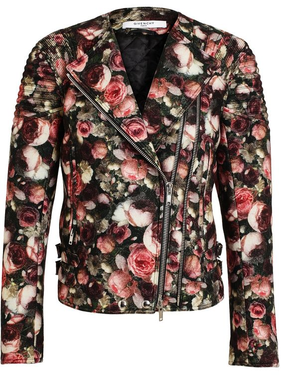 Givenchy Floral Felt Wool Bomber Jacket in Multicolor (multicolour) | Lyst