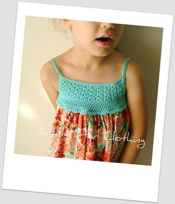 crochet bodice dress #inspiration #dress #crochet by monica