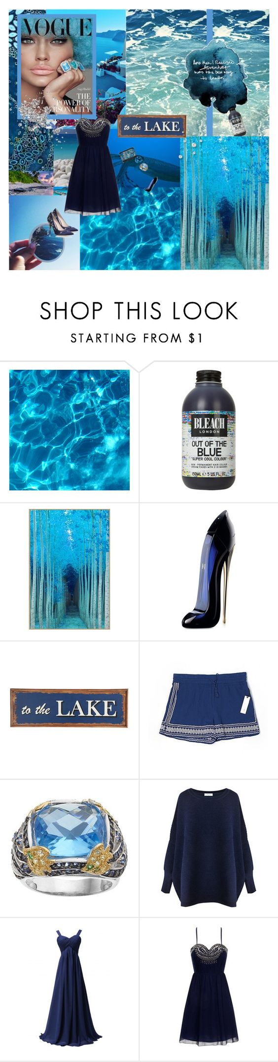 """""""Dress Like A Mermaid"""" by sml71402 ❤ liked on Polyvore featuring Bora Bora, Carolina Herrera, Pier 1 Imports, cupcakes and cashmere, SOPHIE MILLER, Paisie, Little Mistress, NARS Cosmetics, RALPH & RUSSO and Blue"""