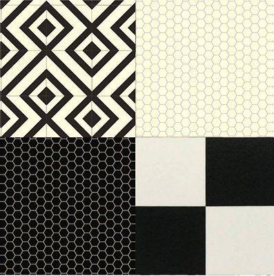 Cushion Floor Vinyl Black White Design Sheet Kitchen Bathroom Non Slip Flooring | eBay