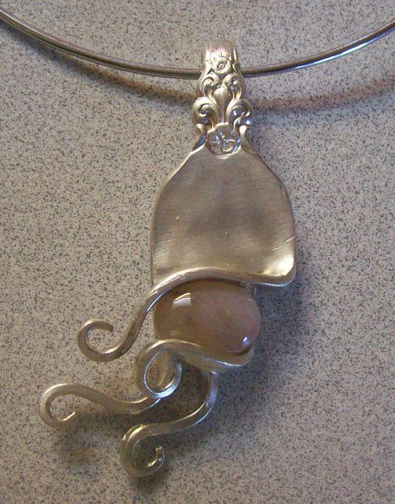 antique fork pendant