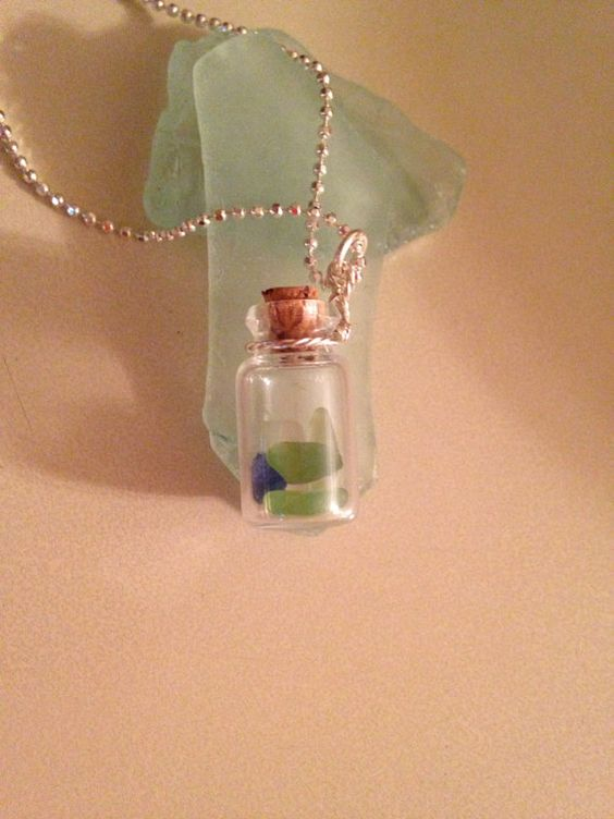 Seaglass Necklace on Etsy, $20.00