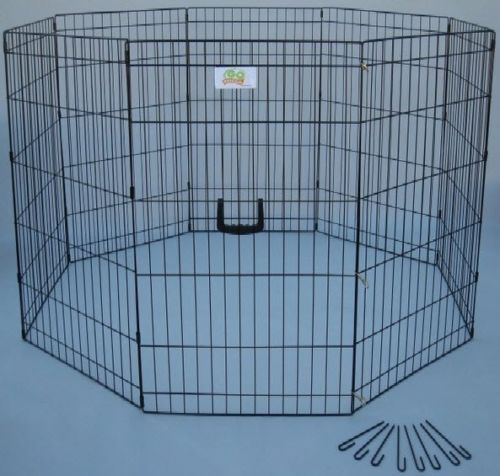 Dog Play Pen Pet Exercise Kennels Folding Indoor Outdoor Pets Puppy