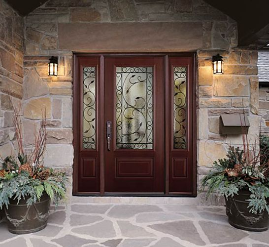 Exterior doors doors and home depot on pinterest for Masonite belleville door price